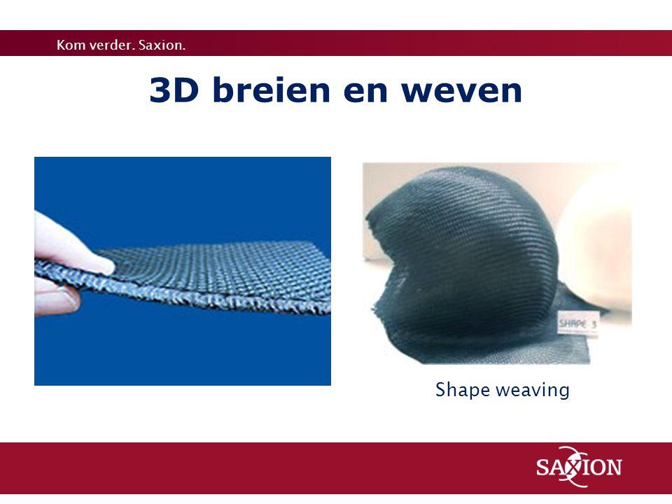 3D breien en weven Shape weaving