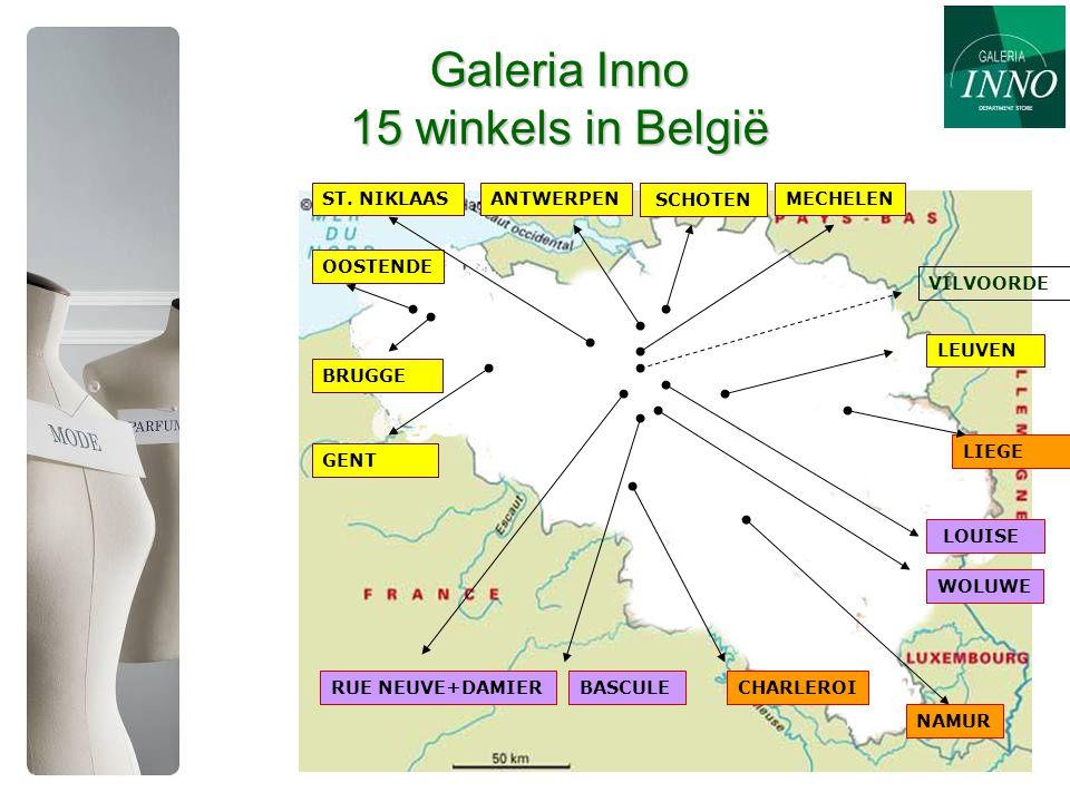 Galeria Inno 15 winkels in België