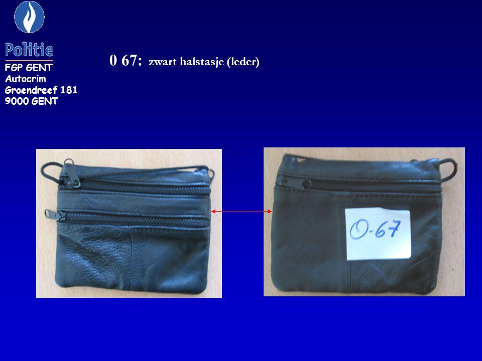 0 67: zwart halstasje (leder)