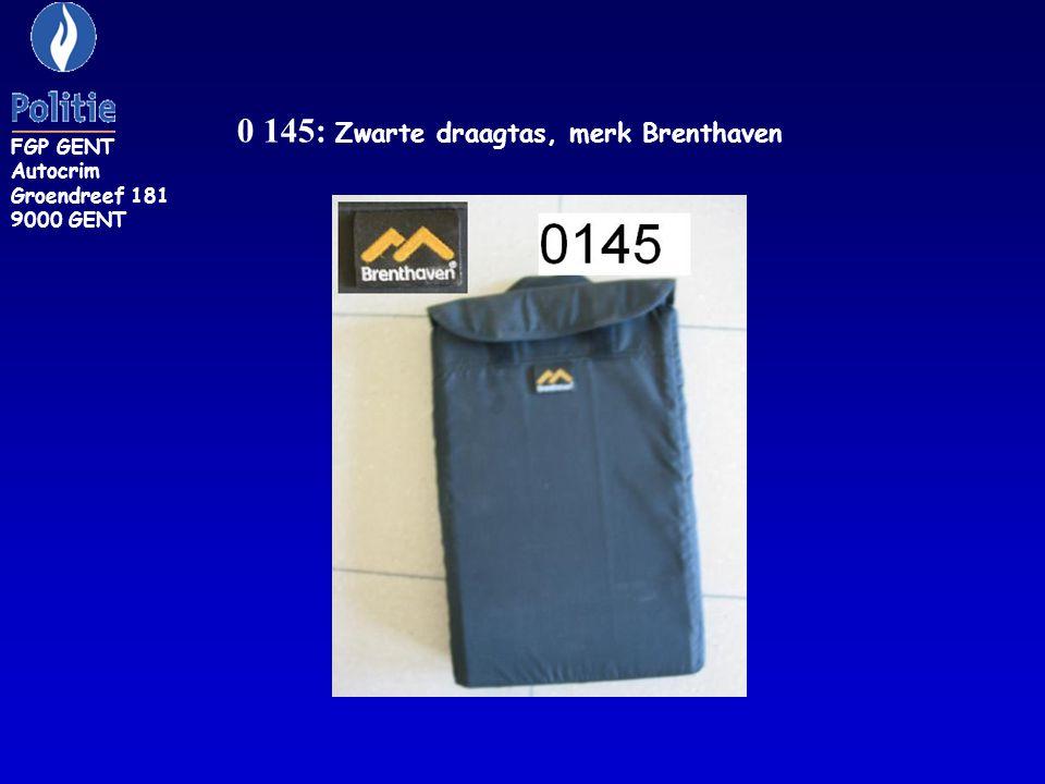 0 145: Zwarte draagtas, merk Brenthaven