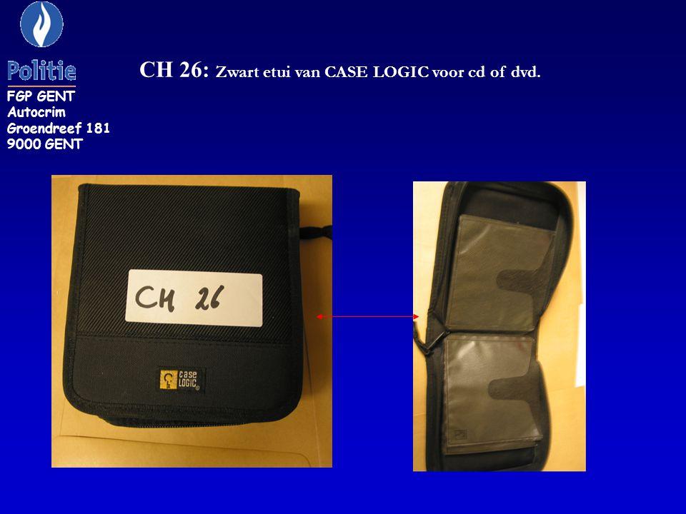 CH 26: Zwart etui van CASE LOGIC voor cd of dvd.