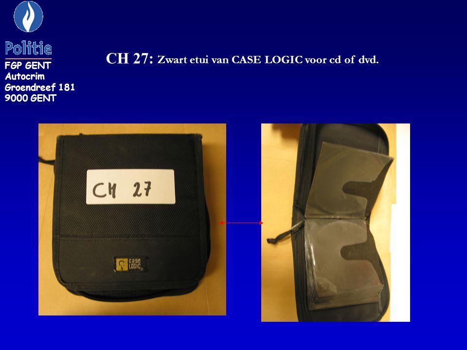 CH 27: Zwart etui van CASE LOGIC voor cd of dvd.