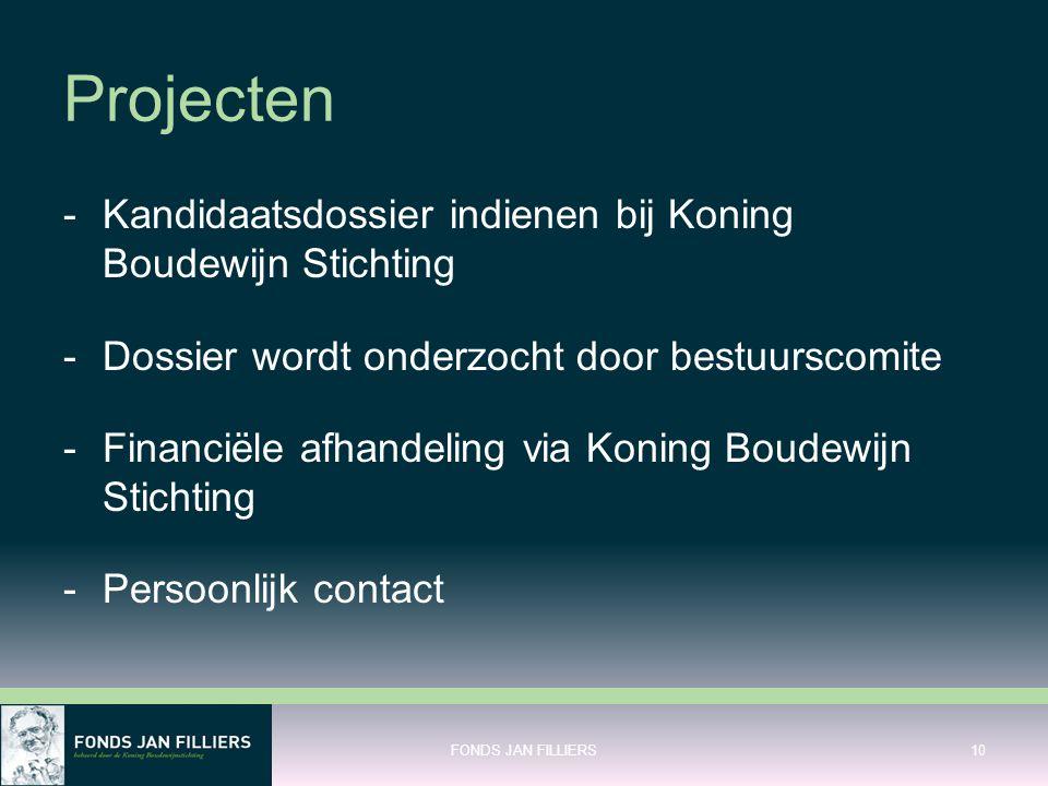 Projecten Kandidaatsdossier indienen bij Koning Boudewijn Stichting