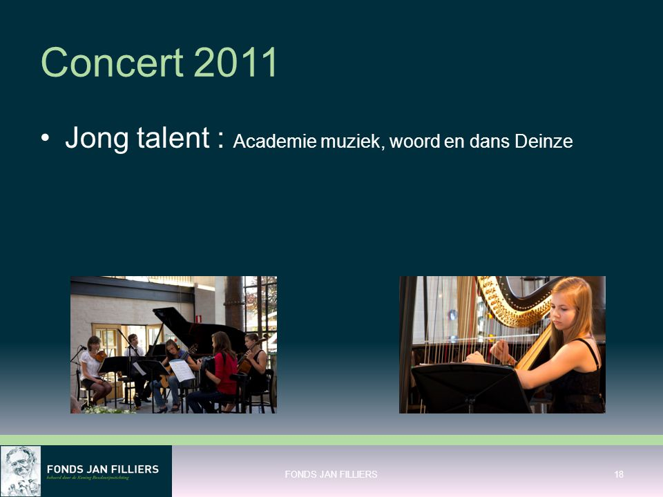 Concert 2011 Jong talent : Academie muziek, woord en dans Deinze
