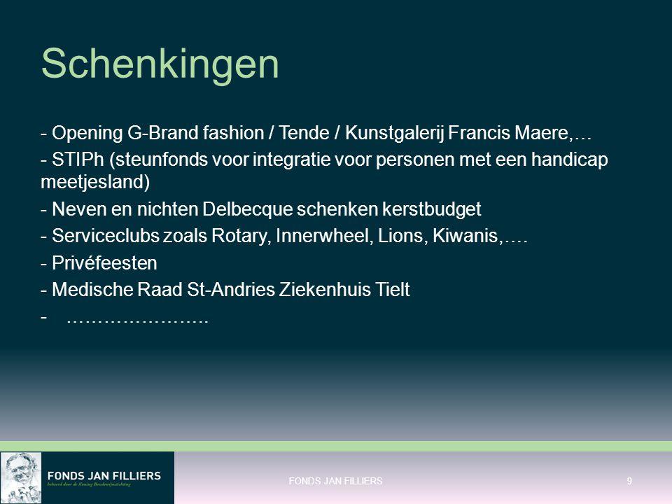 Schenkingen - Opening G-Brand fashion / Tende / Kunstgalerij Francis Maere,…