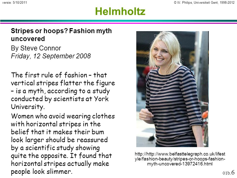 Helmholtz Stripes or hoops Fashion myth uncovered