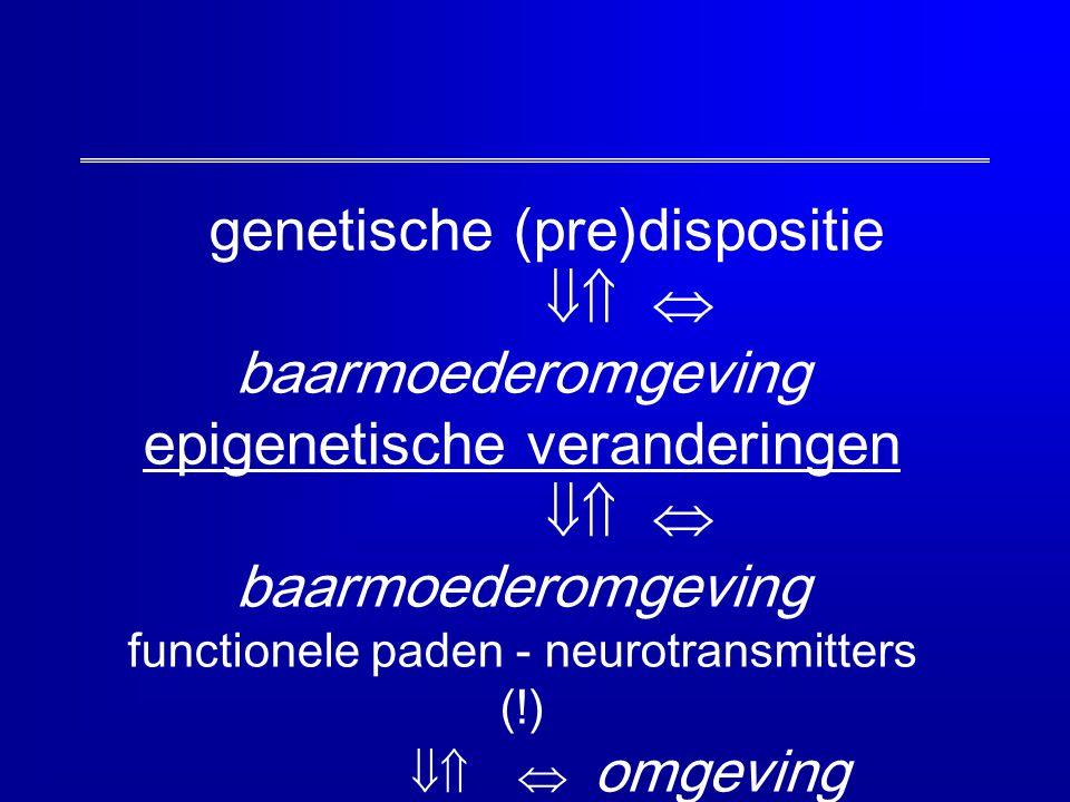 genetische (pre)dispositie   baarmoederomgeving