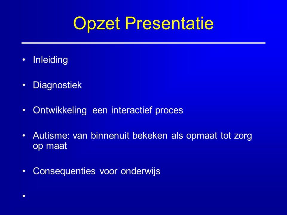 Opzet Presentatie Inleiding Diagnostiek