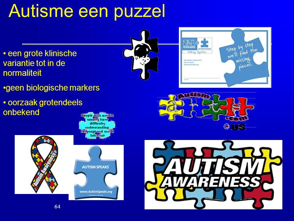 Autisme een puzzel een grote klinische variantie tot in de normaliteit