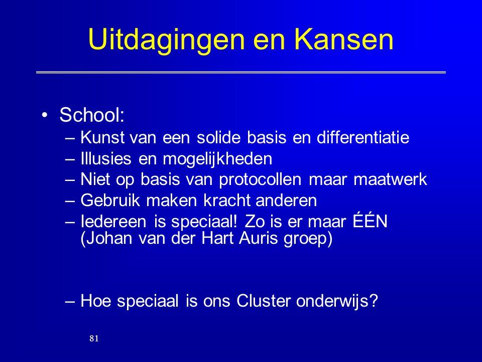 Uitdagingen en Kansen School: