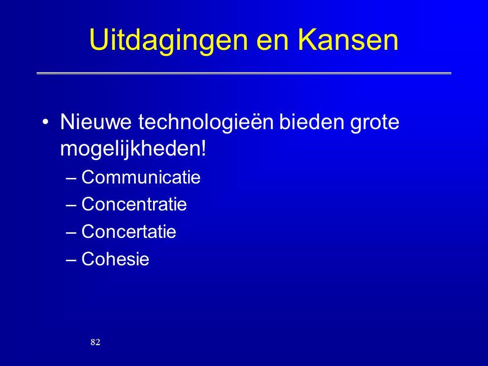 Uitdagingen en Kansen Nieuwe technologieën bieden grote mogelijkheden!