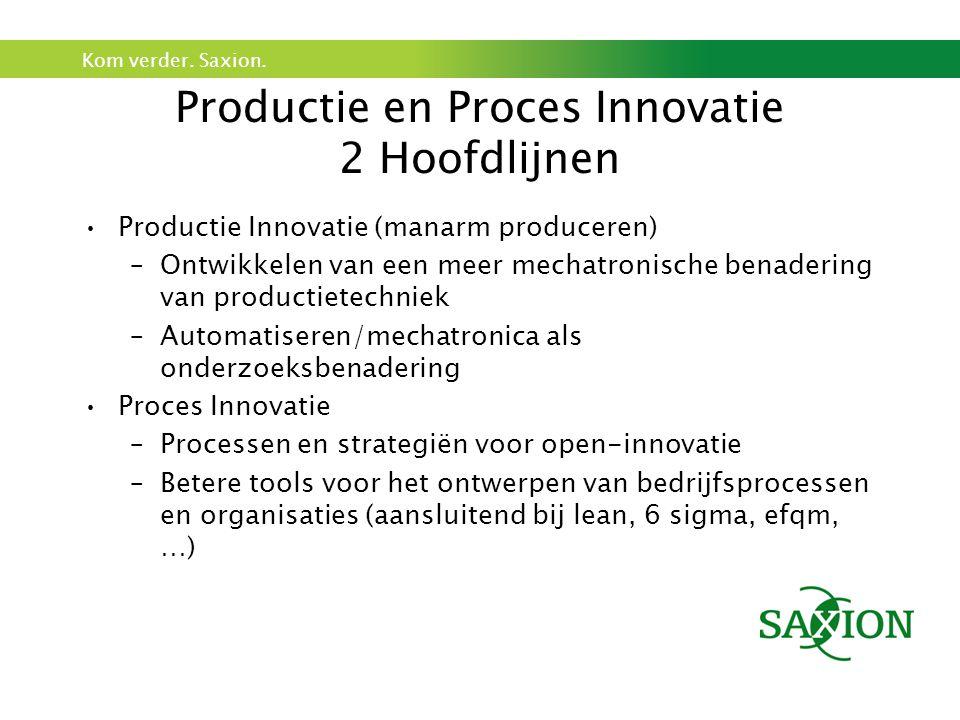 Productie en Proces Innovatie 2 Hoofdlijnen