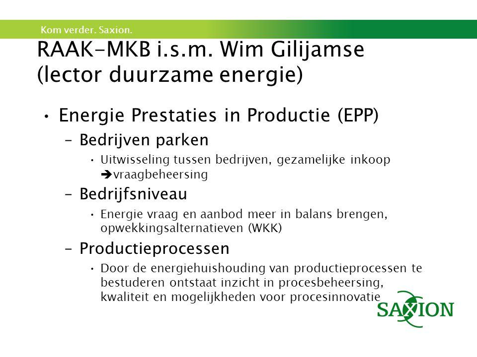 RAAK-MKB i.s.m. Wim Gilijamse (lector duurzame energie)