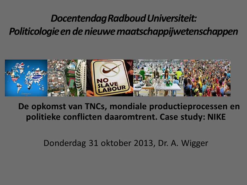 Donderdag 31 oktober 2013, Dr. A. Wigger