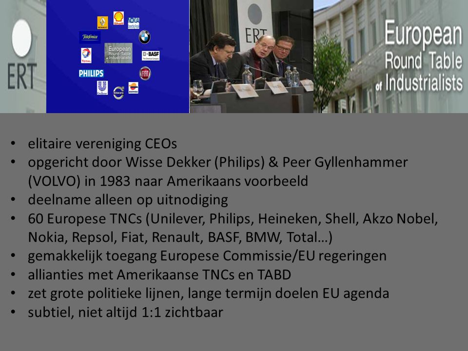 elitaire vereniging CEOs