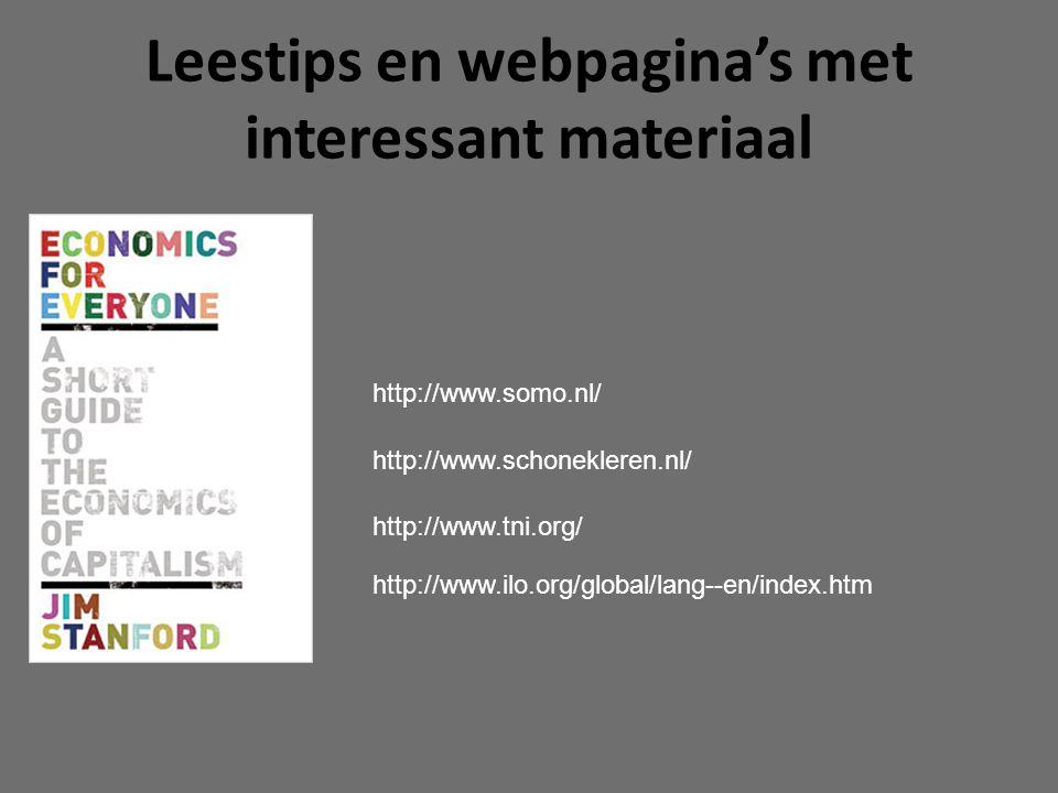 Leestips en webpagina's met interessant materiaal