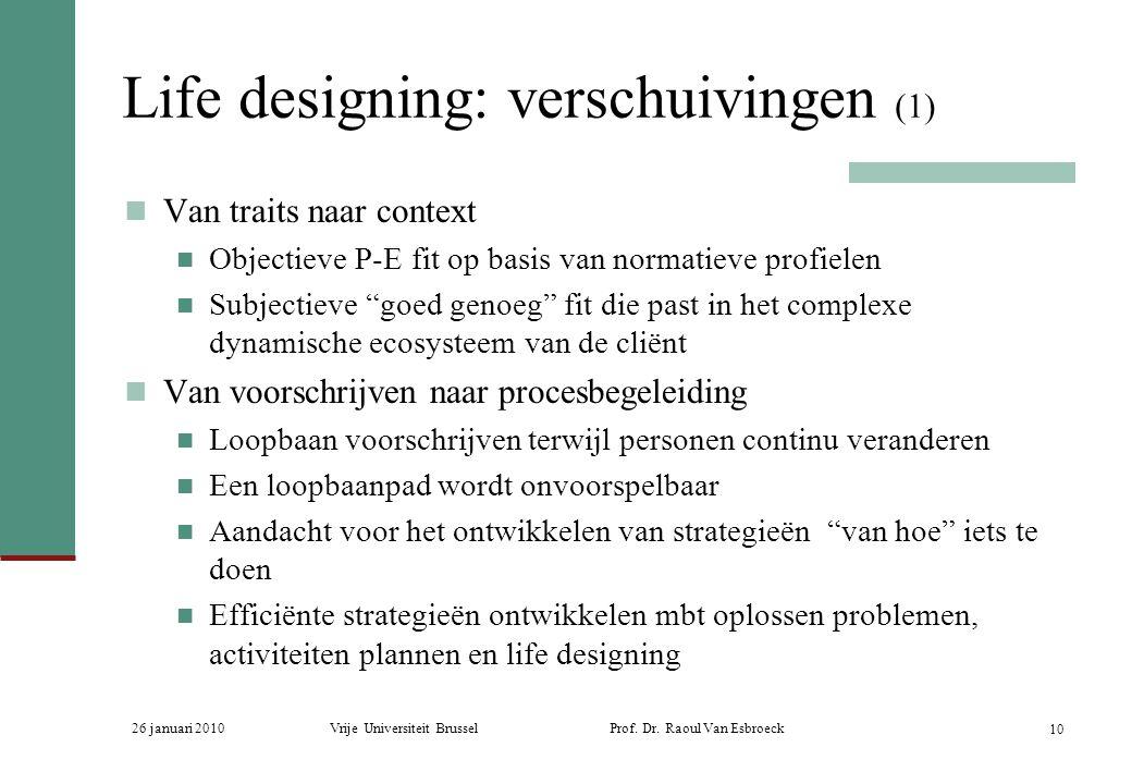 Life designing: verschuivingen (1)