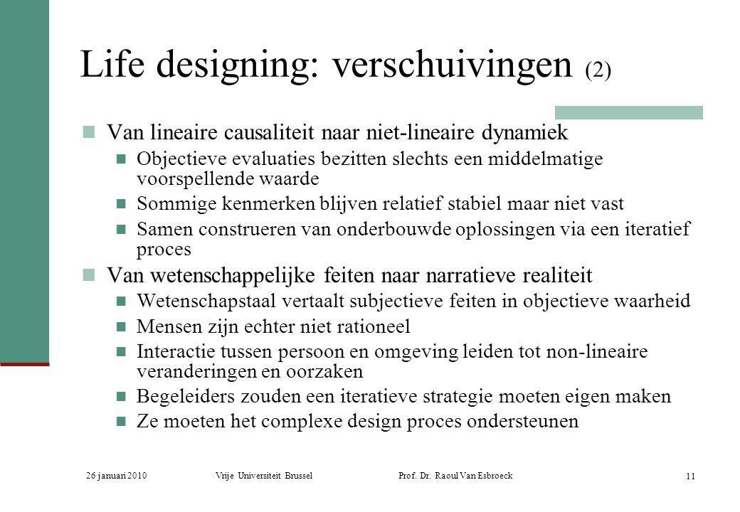 Life designing: verschuivingen (2)
