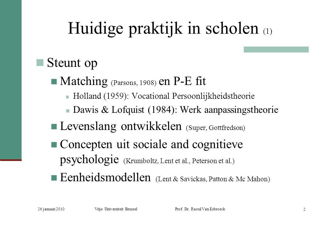 Huidige praktijk in scholen (1)