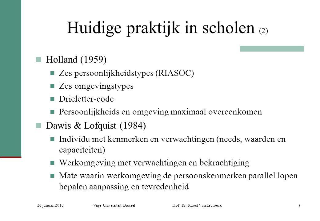 Huidige praktijk in scholen (2)