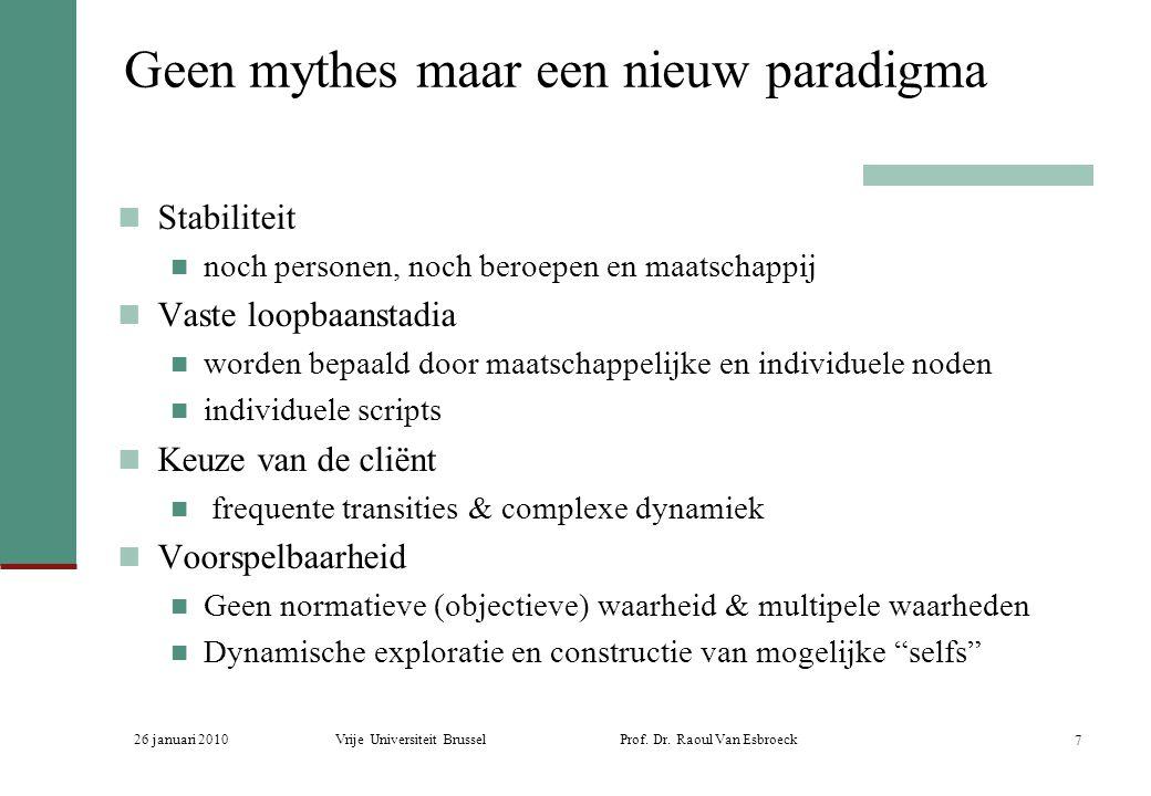 Geen mythes maar een nieuw paradigma