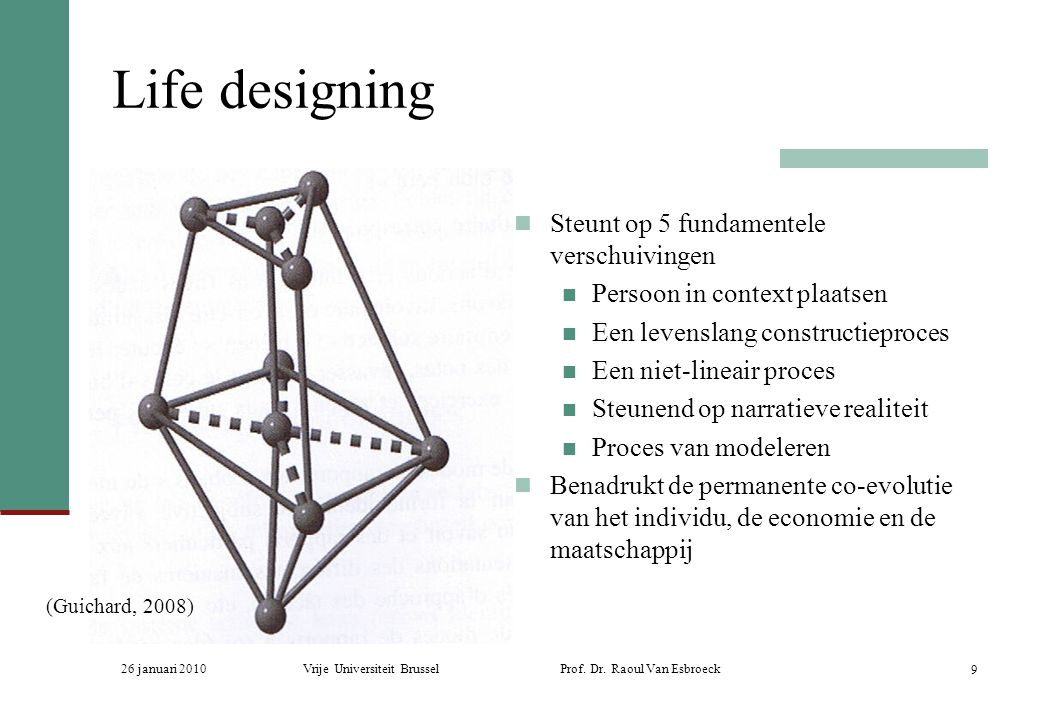 Life designing Steunt op 5 fundamentele verschuivingen
