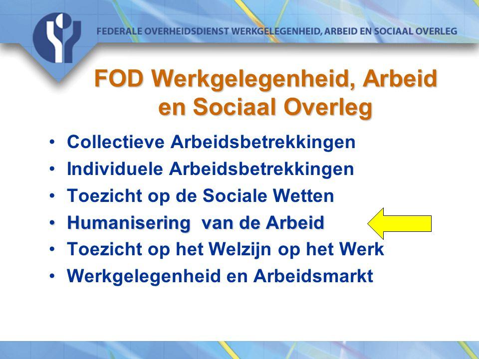 FOD Werkgelegenheid, Arbeid en Sociaal Overleg