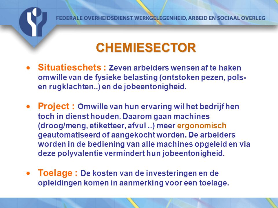 CHEMIESECTOR