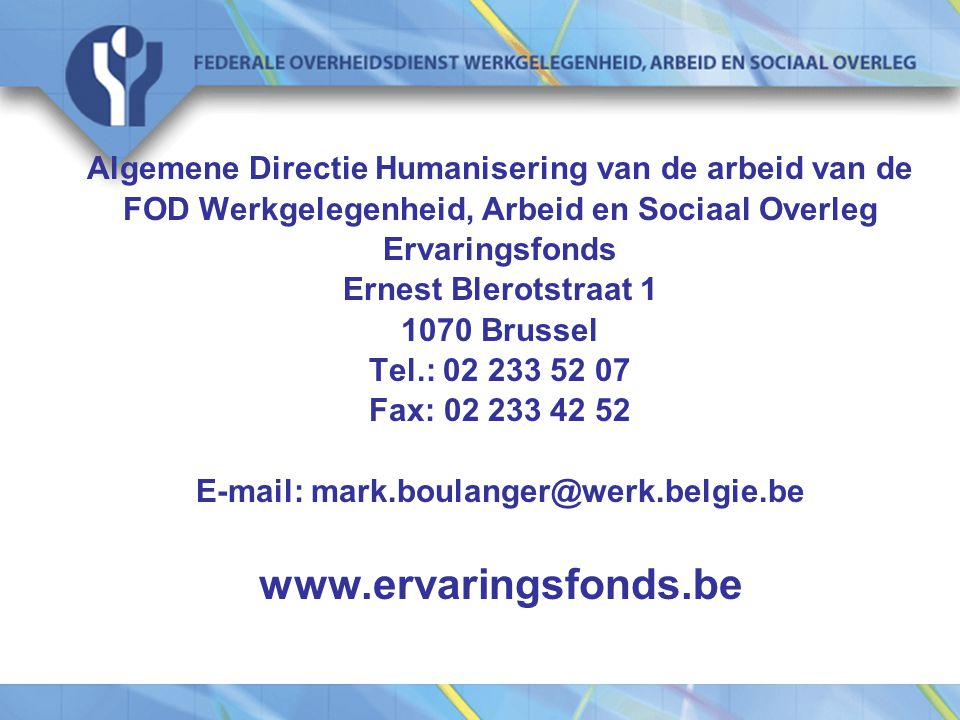 E-mail: mark.boulanger@werk.belgie.be