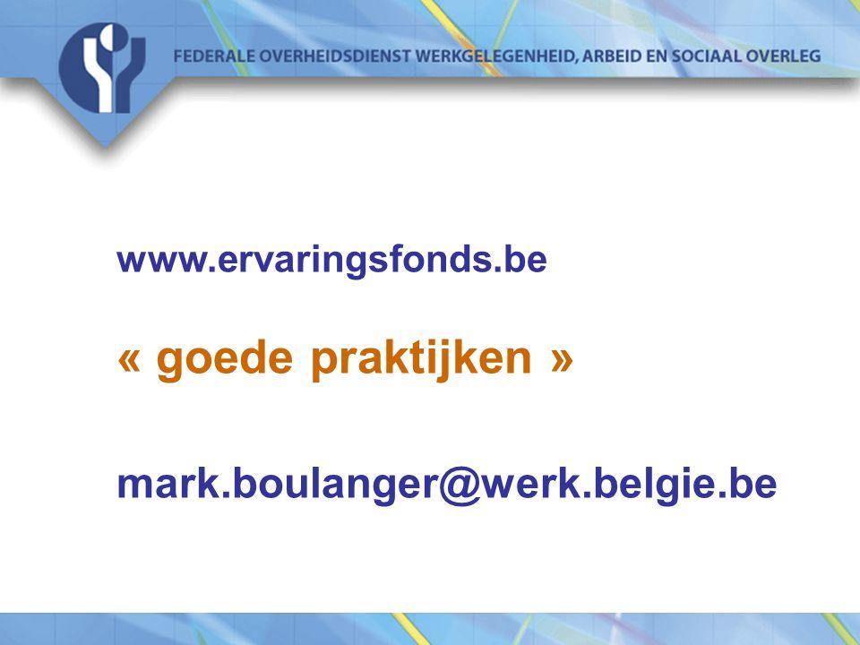« goede praktijken » mark.boulanger@werk.belgie.be