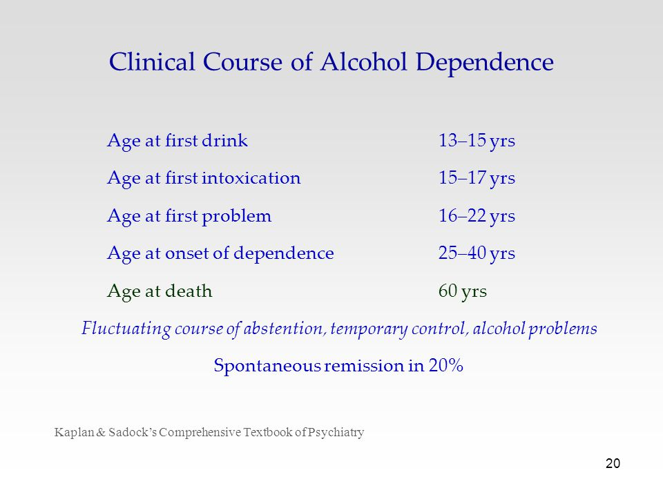 Clinical Course of Alcohol Dependence