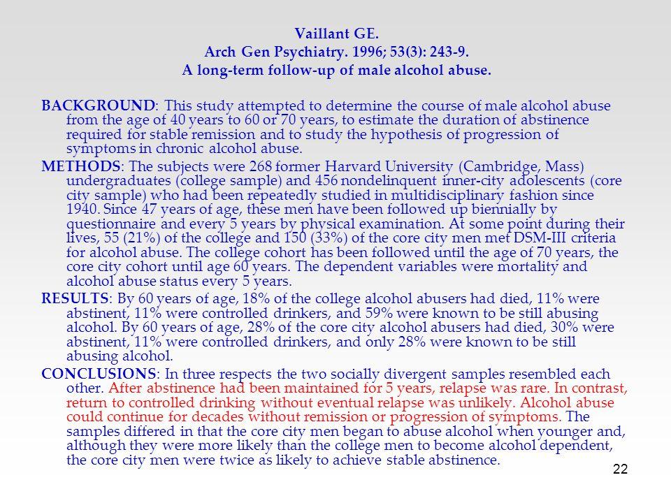 Arch Gen Psychiatry. 1996; 53(3): 243-9.