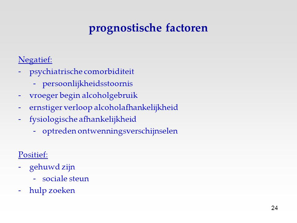 prognostische factoren