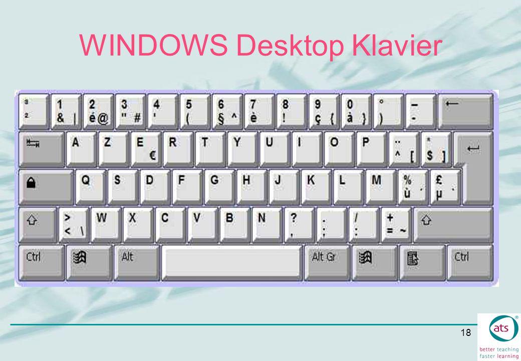 WINDOWS Desktop Klavier