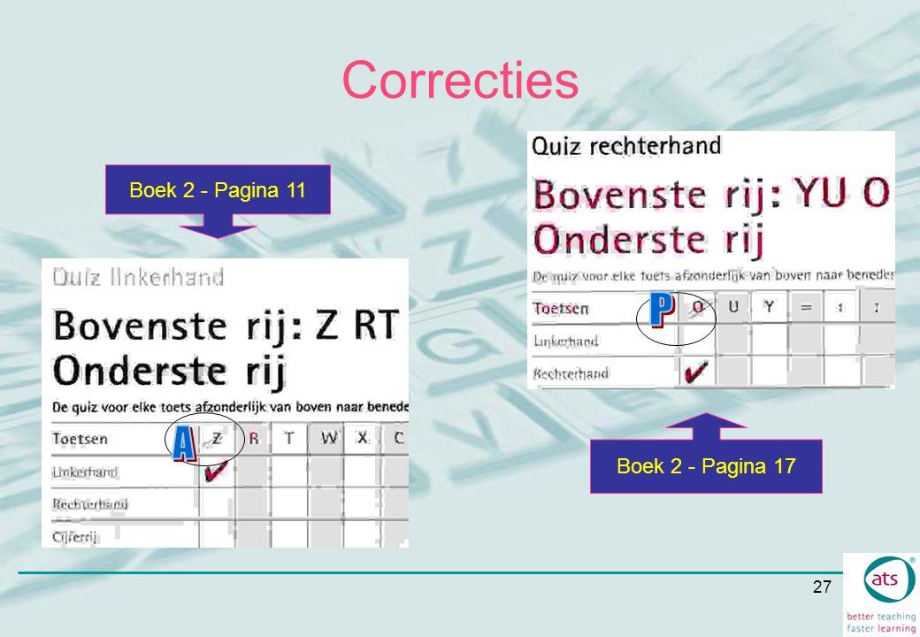 Correcties P A Boek 2 - Pagina 11 Boek 2 - Pagina 17