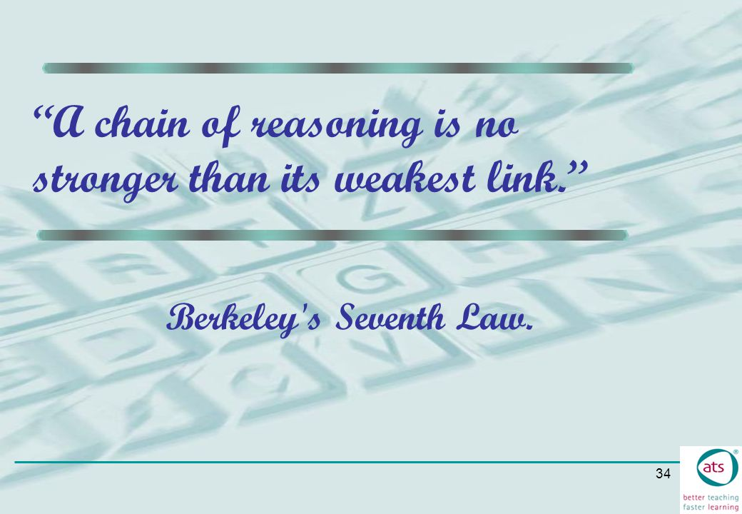 A chain of reasoning is no stronger than its weakest link.