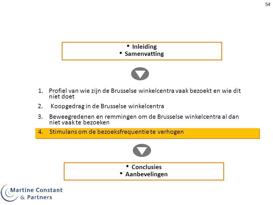Inleiding Samenvatting. Profiel van wie zijn de Brusselse winkelcentra vaak bezoekt en wie dit niet doet.