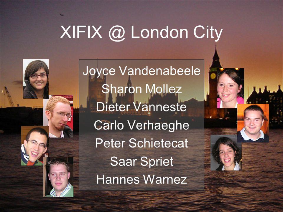 XIFIX @ London City Joyce Vandenabeele Sharon Mollez Dieter Vanneste