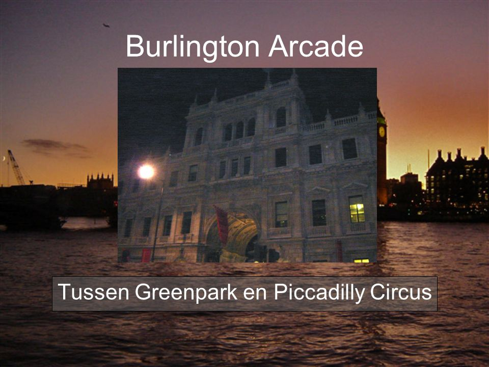 Tussen Greenpark en Piccadilly Circus