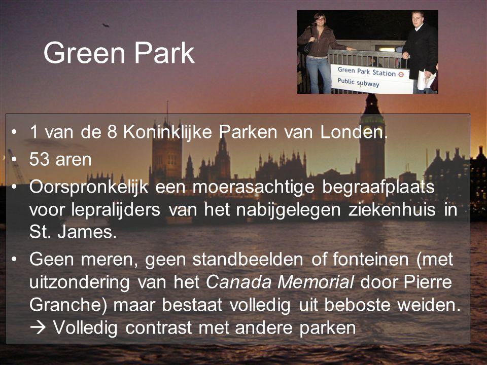 Green Park 1 van de 8 Koninklijke Parken van Londen. 53 aren