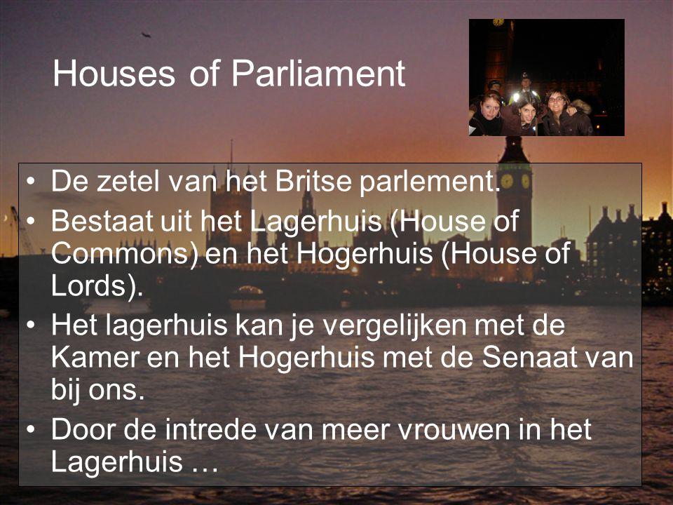 Houses of Parliament De zetel van het Britse parlement.