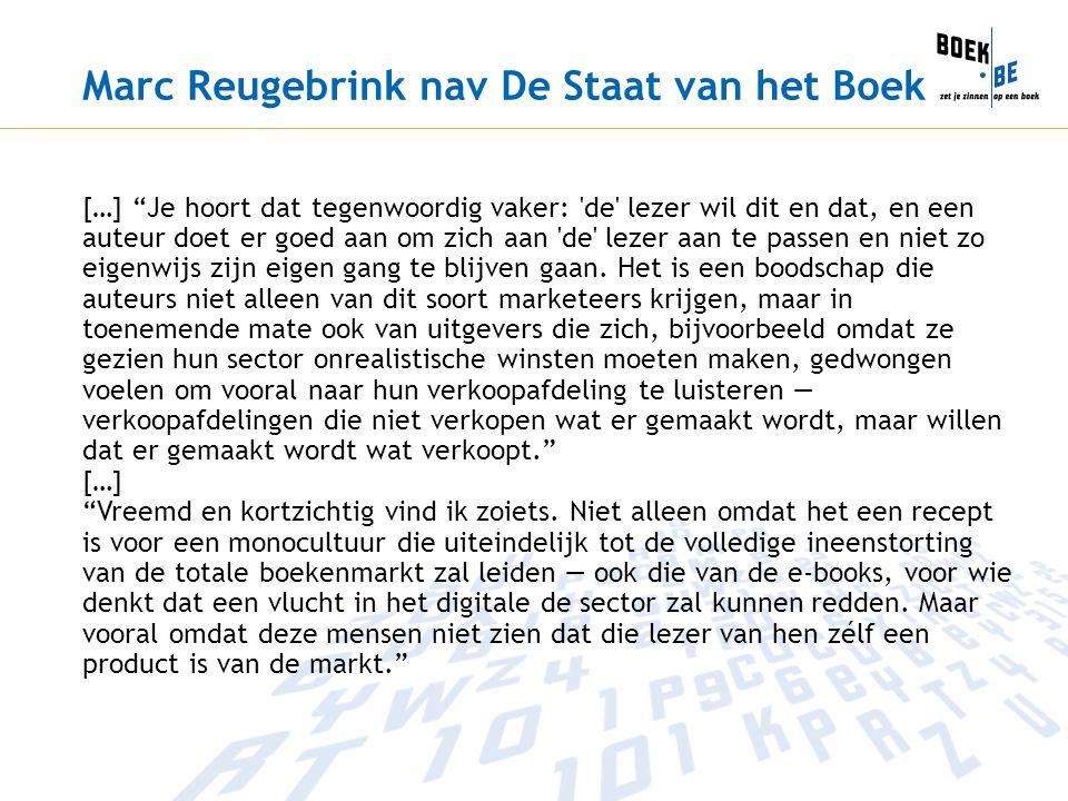 Marc Reugebrink nav De Staat van het Boek