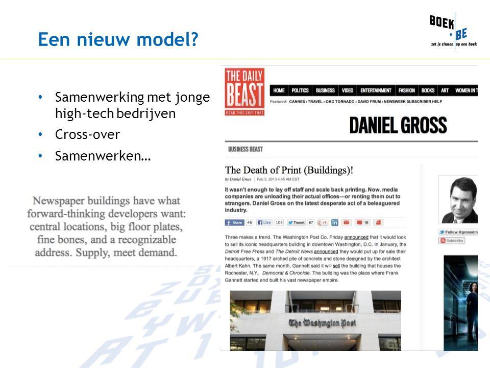 Een nieuw model Samenwerking met jonge high-tech bedrijven Cross-over