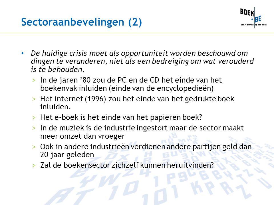 Sectoraanbevelingen (2)