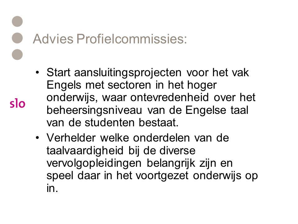 Advies Profielcommissies:
