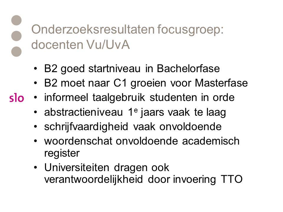 Onderzoeksresultaten focusgroep: docenten Vu/UvA