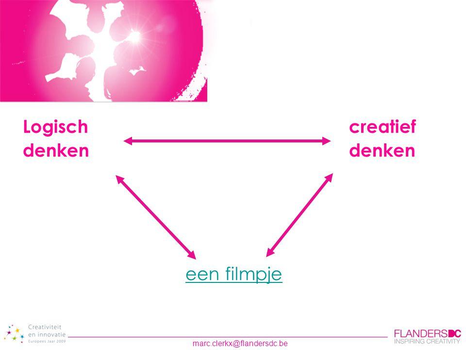 Logisch creatief denken denken een filmpje