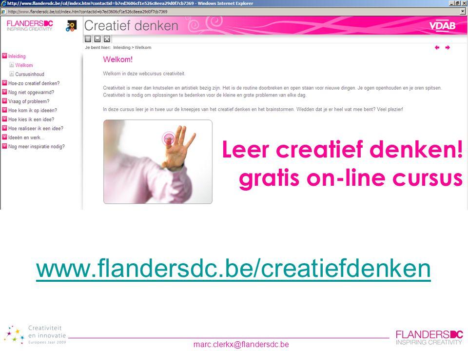 Leer creatief denken! gratis on-line cursus