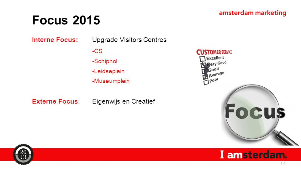 Focus 2015 Interne Focus: Upgrade Visitors Centres -CS