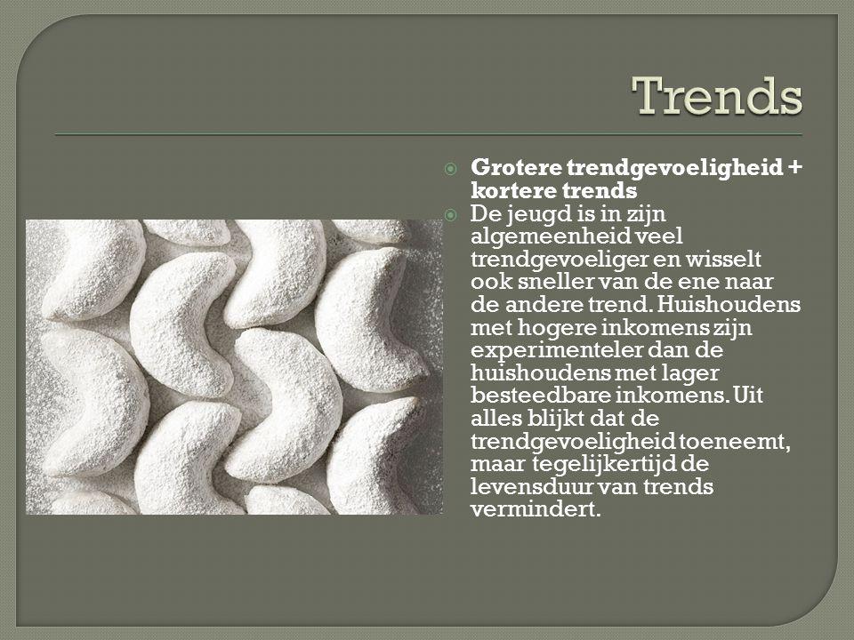 Trends Grotere trendgevoeligheid + kortere trends